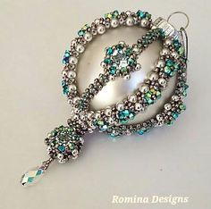 Crystal Christmas Ornament Tutorial by RominaDesigns on Etsy