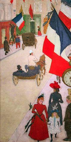 Bonnard, Pierre French, 1867 - 1947 Paris, Rue de Parme on Bastille Day 1890. #artists #bonnard