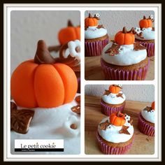 Cupcakes de calabaza especiados Fun Cupcakes, Cookies Et Biscuits, Desserts, Food, Biscuits, Gourd, Seasons, Pies, Cool Cupcakes