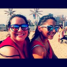 First Ladies of #mixjunkies rocking the nectar sunglass at #JuicyNY