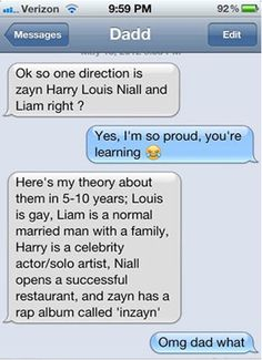 But they do know way too much about One Direction: | 27 Reasons Why Parents Shouldn't Be Allowed To Text