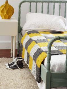 Patchwork Blanket | Yarn | Free Knitting Patterns | Crochet Patterns | Yarnspirations