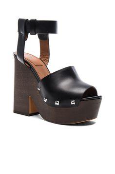 Leather Sofia Clog Sandals