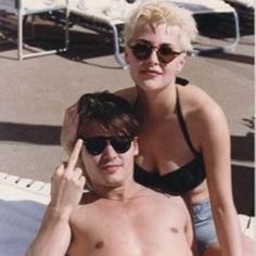Johnny Depp & Sherilyn Fenn 1986 - 1988