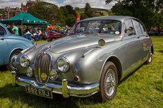 1960 Jaguar Mark 2 - 692 EBJ - seen in the car park at the 41st Scottish Borders Historic Motoring Extravaganza, held at Thirlestane Castle, Lauder, Scotland, June 2013. www.bvac.org.uk/