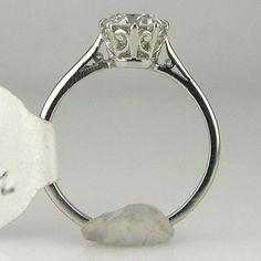 Edwardian filagree engagement ring  www.antiqueengagementrings.com