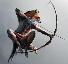 Fox archer by Ketunleipaa.deviantart.com on @DeviantArt
