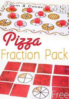 MATH ACTIVITY-- These free pizza fraction printables are a great way to have fun and learn about equivalent fractions. Kids will compare halves, fourths, and sixths with three free printable fraction activities. Subtraction Activities, Fraction Activities, Math Activities For Kids, Hands On Activities, Fun Math, Math Games, Numeracy, Fraction Games For Kids, Kids Math