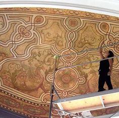faux mosaic by an incredible artisan...WOW!!