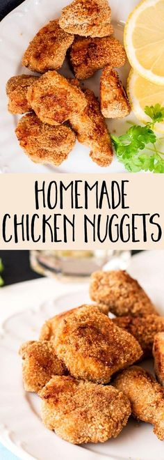 If your kids love fast food, surprise them with this homemade baked chicken nuggets recipe! This is a much healthier version of their favorite.