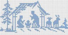 dans Grille offerte Plus Plus Xmas Cross Stitch, Cross Stitch Needles, Cross Stitch Cards, Cross Stitching, Cross Stitch Embroidery, Cross Stitch Designs, Cross Stitch Patterns, Nativity Silhouette, Cross Stitch Numbers