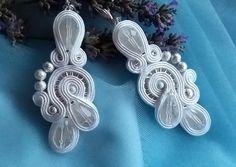 Cercei soutache statement Soutache Jewelry, Belly Button Rings, Cufflinks, Accessories, Fashion, Moda, Fashion Styles, Belly Rings, Wedding Cufflinks