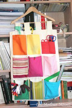 Tapiz organizador portátil con bolsillos, para guardar zapatos, juguetes o como costurero.