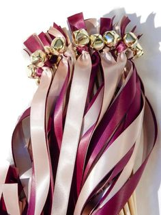 150 Ribbon Bell Wands  Send Off Bells  Weddings by DivinityBraid
