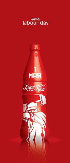 Thematic bottle designs for Coca Cola