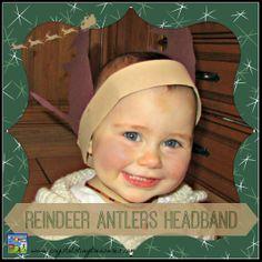 Reindeer antlers headband - Crystal's Tiny Treasures