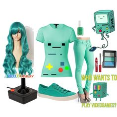 """""""BEEMO COSPLAY"""" by sinisterwhispers on Polyvore"""
