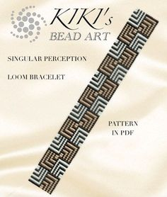 Bead loom pattern - Singular perception - cubic geometric patterned LOOM bracelet in PDF instant download