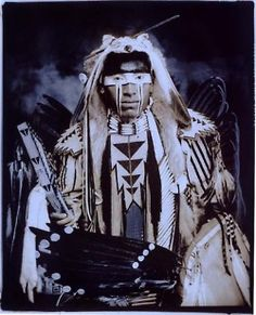 This one pic from an amazing series about contemporary Native Americans. Viewed through the past