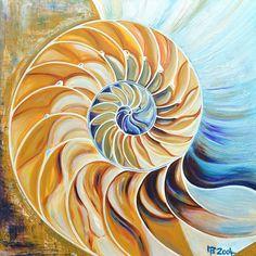"""Acrylbild: """"Nautilus"""" von Ponge-Design auf DaWanda.com"""