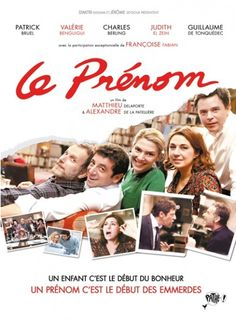 Le Prenom (What's In a Name) - French comedy; a successful fortysomething about to have his first child is invited to dinner by his sister & her husband, along with a childhood friend. While waiting for his pregnant wife to arrive, he lets slip the surprising name they've chosen for their child, causing an uproar that will unleash old grievances and reveal surprising secrets. Hilarious, well-acted, and unexpectedly heartfelt.