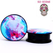 COLORFUL CANDY SWIRL Ear Gauges PAIR
