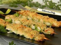 Gli Spiedini di Zucchine e Gamberi sono un piatto veloce e salutare