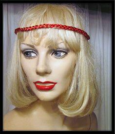 Vintage Metallic Satin Bohemian 70s 80s braided headband 30% off SALE