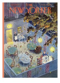 The New Yorker Cover - September 1949 Poster Print by Tibor Gergely at the Condé Nast Collection The New Yorker, New Yorker Covers, Cover Pages, Cover Art, Magazine Art, Magazine Covers, New Yorker Cartoons, Vintage Magazines, Look At You