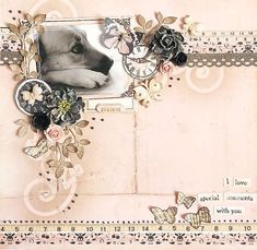 Layout: {I love special moments with you} * Swirlydoos April Kit*