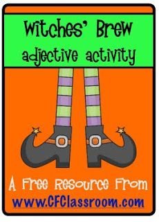Would be great to use with piggie pie! FREEBIE ALERT - Witches' Brew Adjective Activity :) Jodi from Clutter-Free Classroom Adjectives Activities, Speech Activities, Writing Activities, Therapy Activities, Speech Language Therapy, Speech And Language, Language Arts, Speech Therapy, Speech Pathology