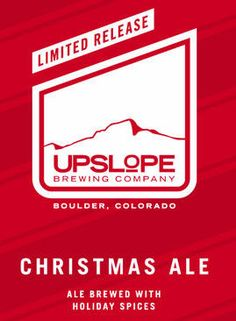 Christmas Ale from @Upslope Brewing: Spiced Belgium Style Dubbel brewed with Holiday spices!! #Denver #Beer