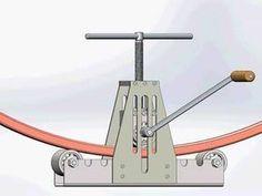 how to make a manual pipe bending with your own hands drawings Metal Bending Tools, Metal Working Tools, Metal Tools, Metal Projects, Welding Projects, Cool Tools, Diy Tools, Metal Fabrication Tools, Metal Bender