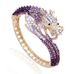 Chinese Dragon Crystal Rhinestone Bracelet