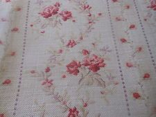 Antique French Shabby Roses Garland Floral  Cotton Fabric ~ Rose Pink Lavender