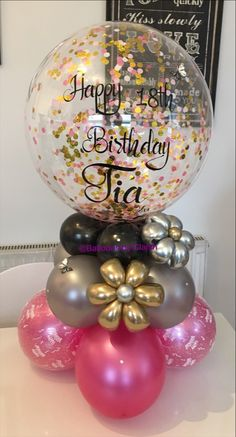 Balloon Decoration Ideas for Birthday Best Of Ð?ки Ð?ки In 2019 : Balloon Decoration Ideas for Birthday Best Of Ð?ки Ð?ки In 2019 Gold Confetti Balloons, Bubble Balloons, Baby Shower Balloons, Balloon Display, Balloon Gift, Balloon Garland, Birthday Balloon Decorations, Birthday Balloons, Balloon Decorations Without Helium