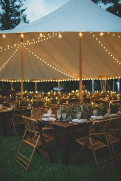 A Waterfront Hawaiian Wedding Full of Local Touches A Breezy Waterfront Wedding in Hawaii Wedding Tent Decorations, Wedding Reception Lighting, Tent Reception, Light Wedding, Ruby Wedding, Wedding Receptions, Backyard Tent Wedding, Outdoor Tent Party, Backyard Wedding Lighting