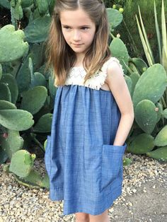 Sleevleaa sundress Fringe accent top 100% cotton chambray Machine wash Little girls sizes Shop all Anthem of the Ants Free U. S. standard shipping orders $100+