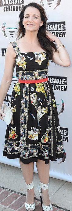 Kristen Davis: Dress – Dolce & Gabbana  Purse – Prada