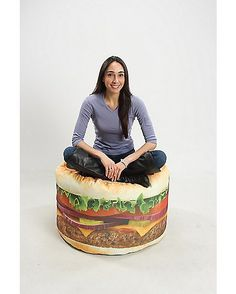 Hamburger Bean Bag Chair - Spencer's