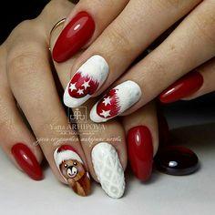 Cute Christmas Nails, Xmas Nails, Christmas Nail Designs, Red Nails, Snowflake Nail Art, Almond Nail Art, Pearl Nails, Tribal Nails, Nail Accessories
