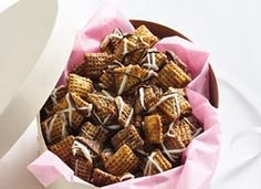 Chocolate Chex mix.....might replace some of brown sugar with Xylitol so less sugar and other variations. Looks yummy!