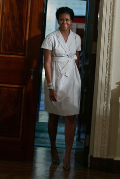 Michelle Obama Wrap Dress