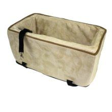Snoozer Luxury Console Pet Car Seat Buckskin Java Large by ODONNELL INDUSTRIES - at www.buydogsweaters.com  $79.95