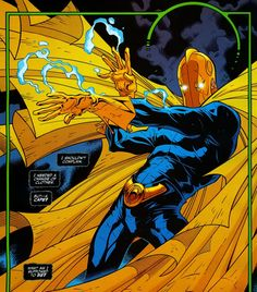 Kent V. Nelson came into possession of the Helm of Nabu, succeeding Hector Hall as the new Dr. He is the grand-nephew of the original Doctor Fate, Kent Nelson. Comic Books Art, Comic Art, Book Art, Marvel E Dc, Marvel Comics, Marvel Funny, Dc Doctor, Superhero Groups, Dr Fate