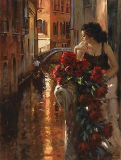 """Roses and Venice"" - Richard S. Johnson"