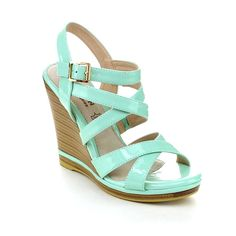 Kayleen DAYLA-2 Women's Ankle Strap Crossing Stacked Heel Wedge Sandals -- Want to know more, click on the image.
