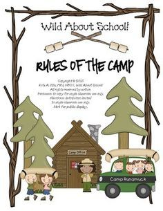 This purchase includes: Classroom Rules Signs with a Wild About School! Just add your rules in place of mine, print and laminate if desired Coordinates great with my other Wild About School! Camping Classroom Management and Activities. Classroom Signs, Preschool Classroom, Future Classroom, Classroom Themes, Kindergarten, Classroom Camping Theme, Camping Rules, Camping Hacks, Go Camping