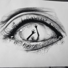 eye drawing creepy drawings eyes cool pencil sketches dark heart weheartit dessin