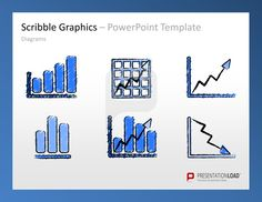 #Scribble Graphics PowerPoint Templates Icons and #sketches, objects, templates for topics like business,  finance, organization, travel, motivation or team for PowerPoint.    #presentationload  www.presentationload.com/scribble-graphics.html